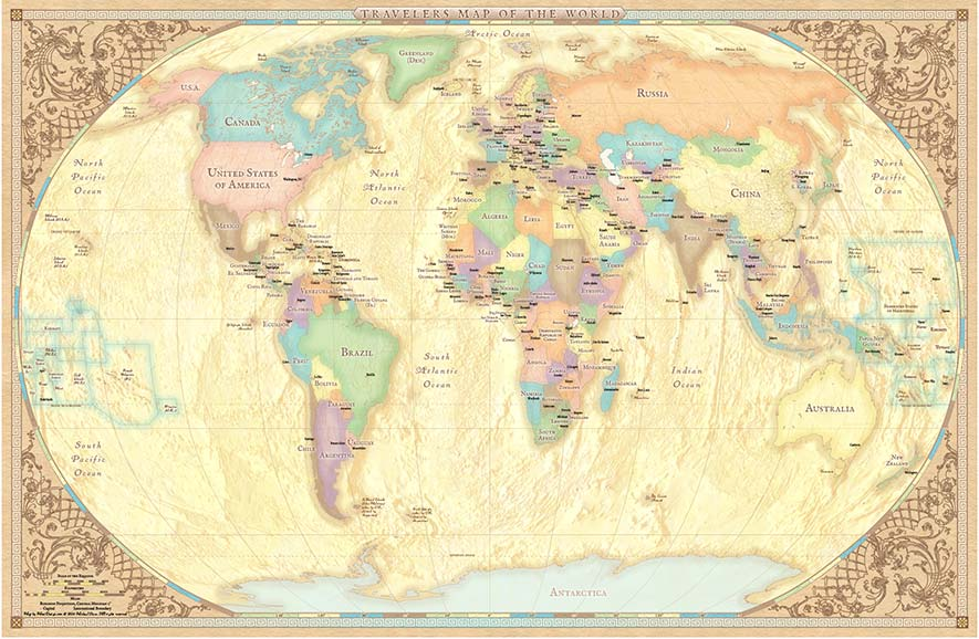 World Traveler Map MoniDesign – Tourism Maps World Traveler Map