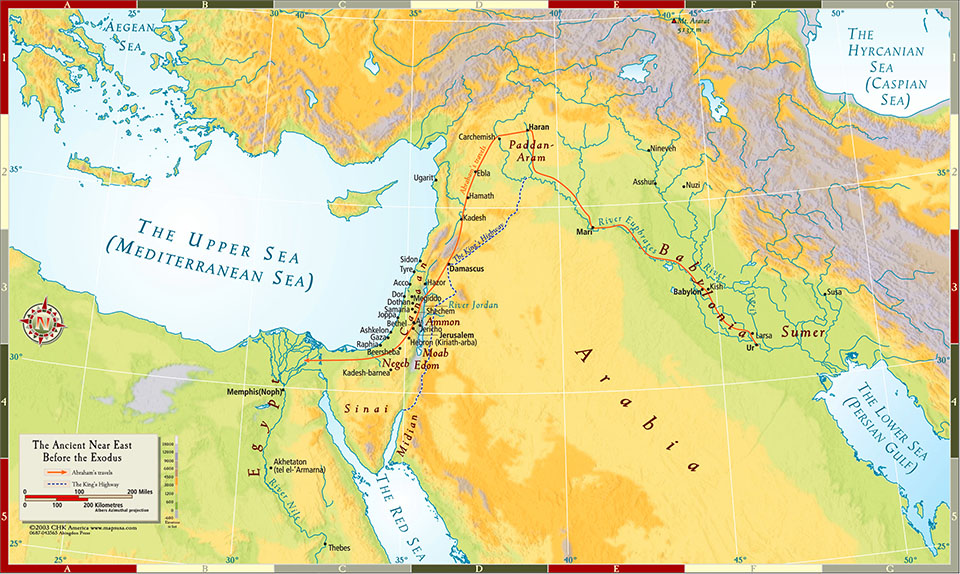 Ancient Middle East History Maps - M O N I D E S I G N